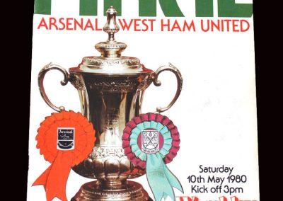 Arsenal v West Ham 10.05.1980 - FA Cup Final