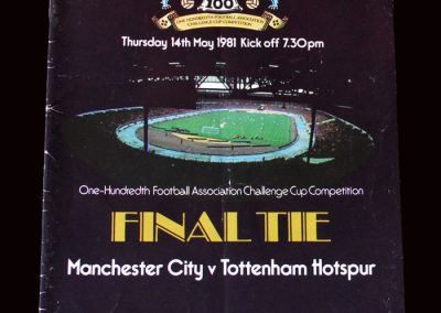 Man City v Spurs 14.05.1981 - FA Cup Final Replay