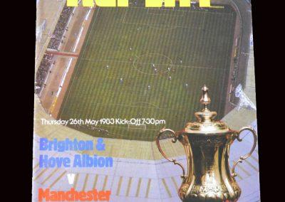 Man Utd v Brighton 26.05.1983 - FA Cup Final Replay