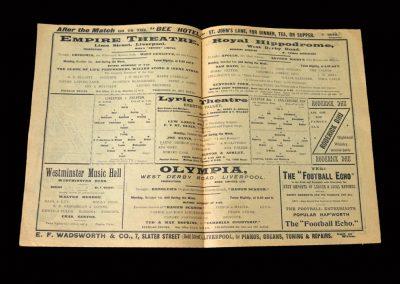Everton v Liverpool 29.09.1906 | Everton Reserves v Stalybridge 29.09.1906