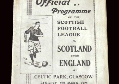 Scottish League v English League 13.03.1926