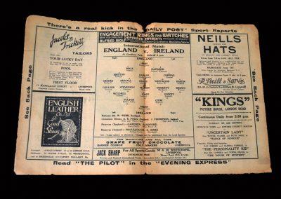 England v Ireland 06.02.1935