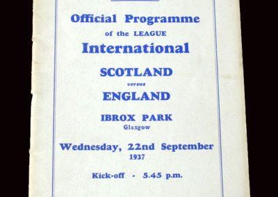 Scottish League v English League 22.09.1937