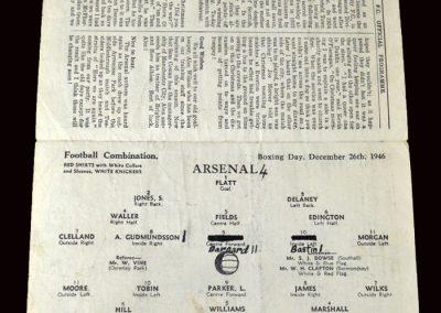 Arsenal v Cardiff 26.12.1946