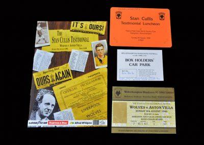 Stan Cullis Tetimonial - Wolves v Aston Villa 09.08.1992