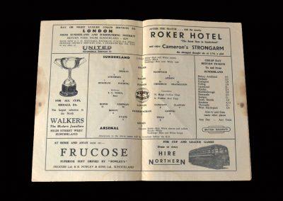 Sunderland v Arsenal 24.09.1955 (last league game)