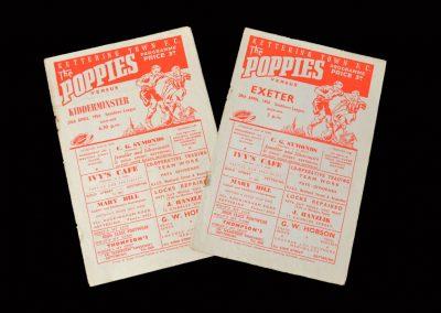 Kettering v Kidderminster 26.04.1956   Kettering v Exeter 28.04.1956