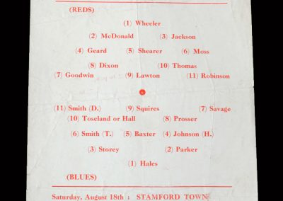 Kettering Trial Match 11.08.1956