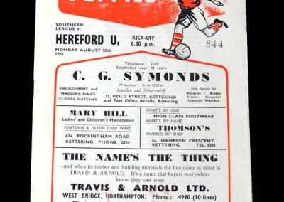 Kettering v Hereford 20.08.1956