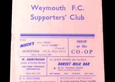 Kettering v Weymouth 08.09.1956