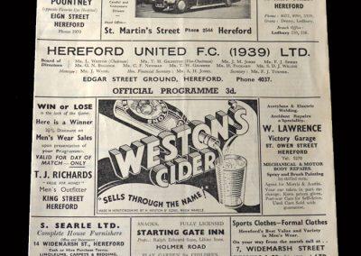 Kettering v Hereford 12.09.1956