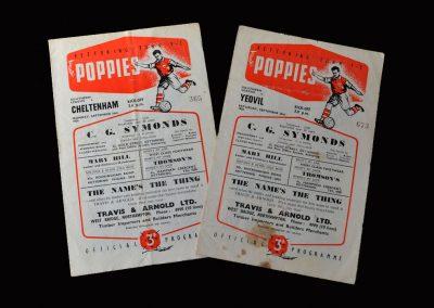 Kettering v Cheltenham 24.09.1956   Kettering v Yeovil 29.09.1956
