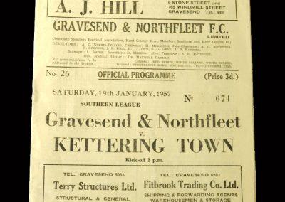 Kettering v Gravesend 19.01.1957