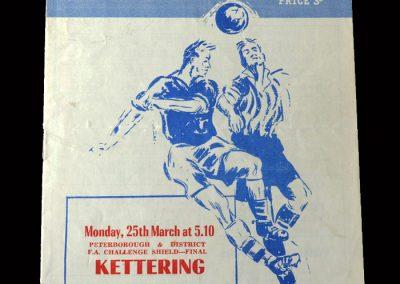 Kettering v Peterborough 25.03.1957 - FA Shield Final