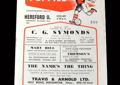 Kettering v Hereford 26.08.1957 - Championship Match