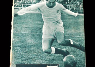 Real Madrid Magazine March 1955 (England v Italy Youth Cup & Euro Cup with Chelsea)