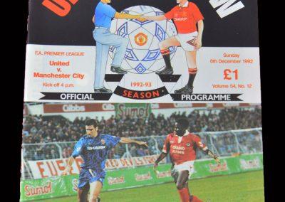 Man Utd v Man City 06.12.1992 (Home debut for Man Utd)