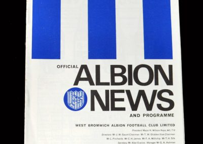 West Brom v Colchester 31.01.1968 - FA Cup 3rd Round Replay