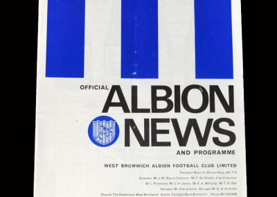 West Brom v Southampton 17.02.1968 - FA Cup 4th Round