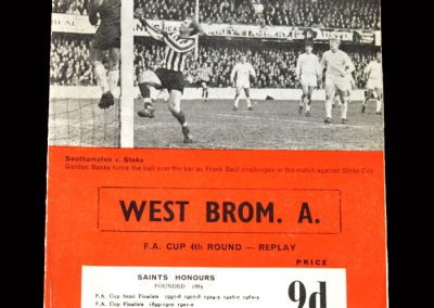 West Brom v Southampton 21.02.1968 - FA Cup 4th Round Replay