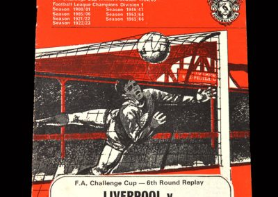West Brom v Liverpool 08.04.1968 - FA Cup 6th Round Replay