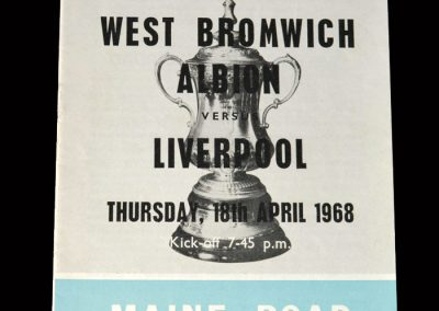 West Brom v Liverpool 18.04.1968 - FA Cup 6th Round 2nd Replay