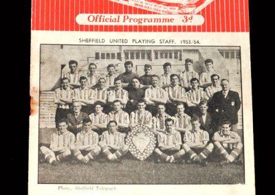 Arsenal v Sheff Utd 24.08.1953