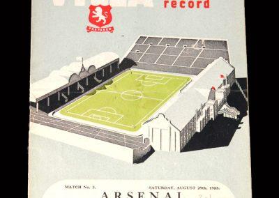 Arsenal v Aston Villa 29.08.1953