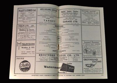 Brentford v Notts County 19.09.1953 - Lawton still listed for Brentford