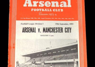 Arsenal v Man City 19.09.1953 - Lawton Debut