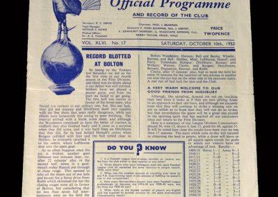 Arsenal v Spurs 10.10.1953
