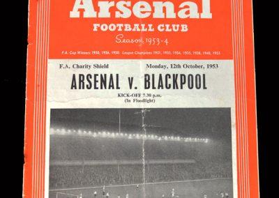Arsenal v Blackpool 12.10.1953 - Charity Shield