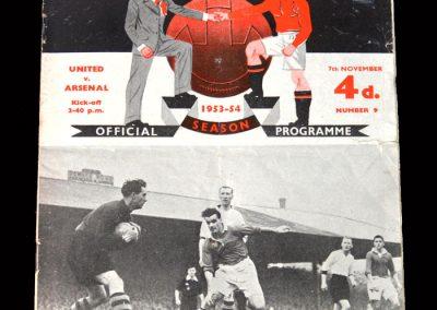 Arsenal v Man Utd 07.11.1953