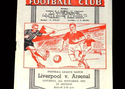 Arsenal v Liverpool 21.11.1953