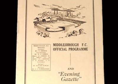 Arsenal v Middlesbrough 05.12.1953