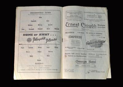 Arsenal v Huddersfield 19.12.1953
