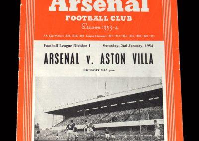 Arsenal v Aston Villa 02.01.1954 - match abandoned