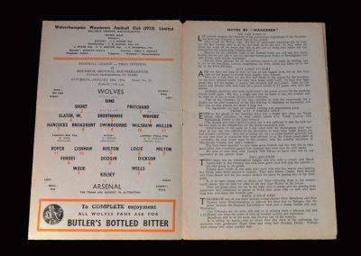Arsenal v Wolves 16.01.1954