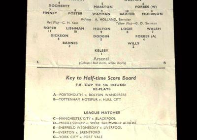 Arsenal v Preston 24.02.1954