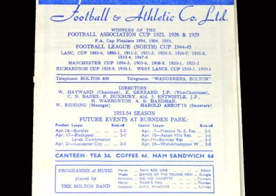 Arsenal v Bolton 03.04.1954