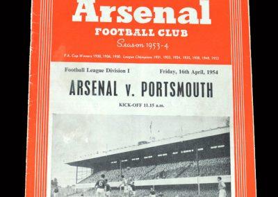 Arsenal v Portsmouth 16.04.1954
