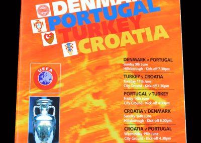Group D Games - Denmark, Portugal, Turkey, Croatia
