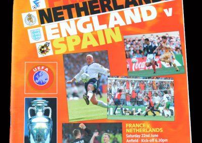 France v Netherlands 22.06.1996   England v Spain 22.06.1996