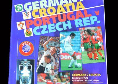 Germany v Croatia 23.06.1996   Portugal v Czech Rep 23.06.1996