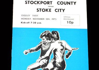 Stockport v Stoke 10.11.1975