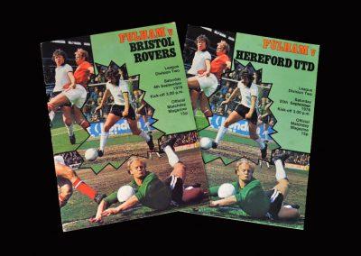Fulham v Bristol Rovers 04.09.1976 - debut, scores winner | Fulham v Hereford 25.09.1976 - The Best and Marsh show