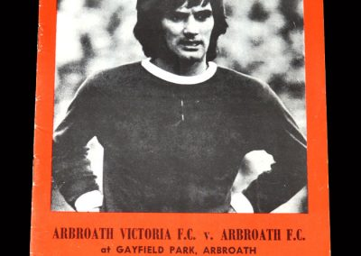 Arbroath Victoria v Arbroath 08.08.1982