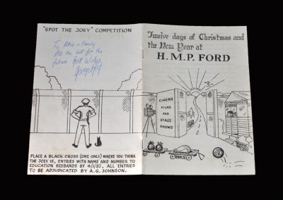 HM Ford Prison Christmas Card 22.12.1984 - Signed by Best