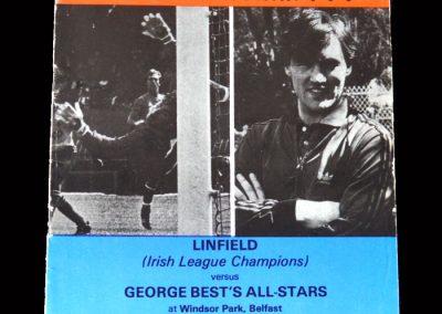 Linfield v George Best All Stars 17.02.1986 - George Dunlop Testimonial