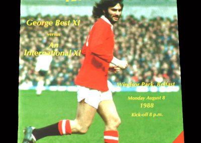 George Best 11 v International 11 08.08.1988 - Best Testimonial